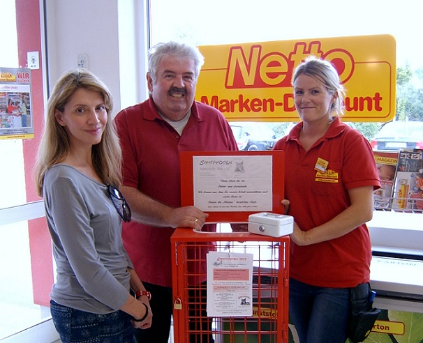 Futterspendenbox bei Netto in Harburg